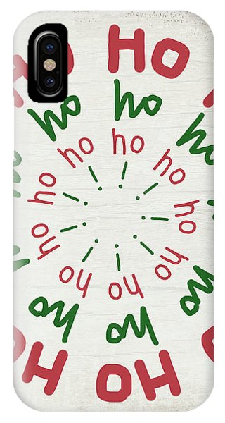 Winter iPhone Case -  Ho Ho Ho Wreath- Art By Linda Woods by Linda Woods