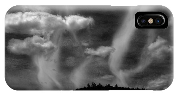 IPhone Case featuring the photograph Hobart Hill Monochrome by Wayne King