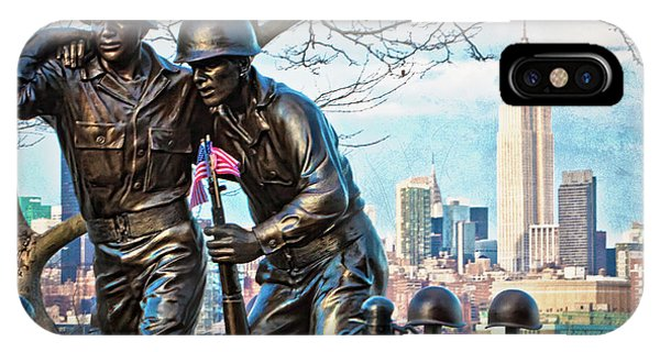 IPhone Case featuring the photograph Hoboken War Memorial by Chris Lord