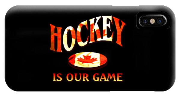 Sports Clothing iPhone Case - Canadian Hockey Design by Peter Potter
