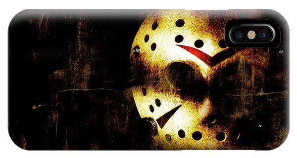Hockey iPhone Case - Hockey Mask Horror by Jorgo Photography - Wall Art Gallery