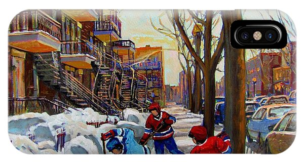 Hockey iPhone Case - Hockey On De Bullion  by Carole Spandau