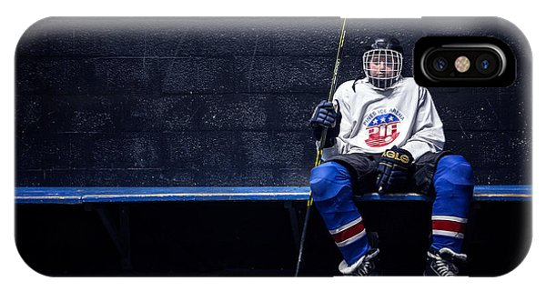 Puck iPhone Case - Hockey Strong by Evelina Kremsdorf