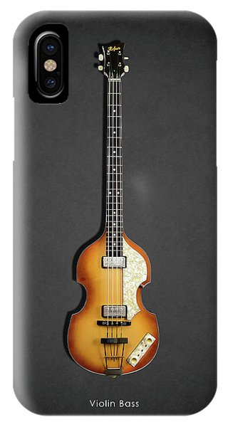 Electric Guitar iPhone Case - Hofner Violin Bass 62 by Mark Rogan