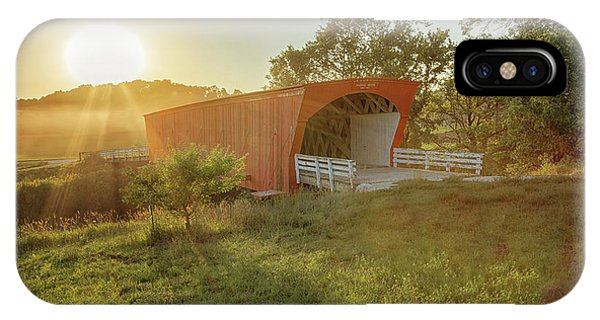 IPhone Case featuring the photograph Hogback Covered Bridge 2 by Susan Rissi Tregoning