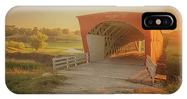 IPhone Case featuring the photograph Hogback Covered Bridge by Susan Rissi Tregoning