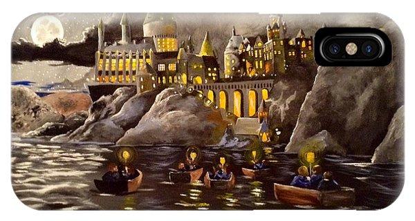 Hogwarts iPhone Case - Hogwarts Castle 2 by Tim Loughner