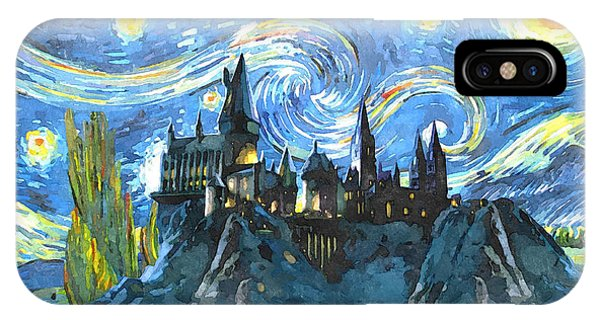 Hogwarts iPhone Case - Harry Potter Starry Night by Midex Planet