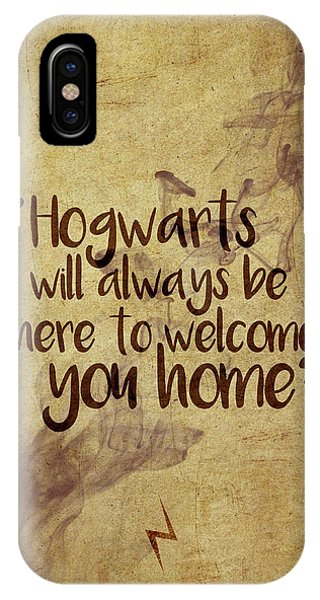 Wizard iPhone X / XS Case - Hogwarts Is Home by Samuel Whitton