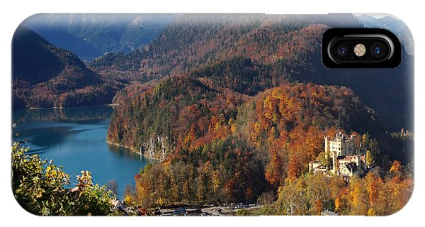 Hohenschwangau Castle And Alpsee In Bavaria IPhone Case