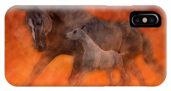 Tribute iPhone Case - Hokie Horses by Betsy Knapp
