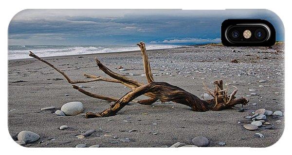 Hokitika Beach - Driftwood - New Zealand IPhone Case