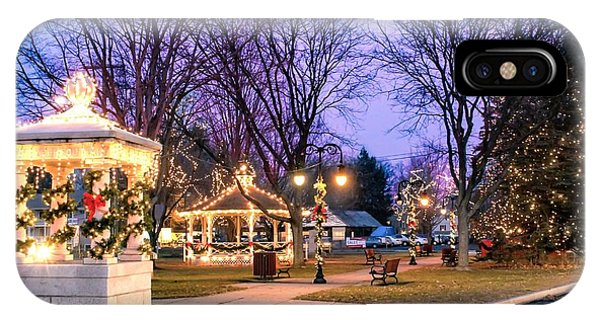 IPhone Case featuring the photograph Holiday Lights In Easthampton by Sven Kielhorn