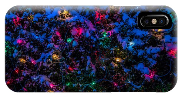 Holiday Lights In Snow IPhone Case