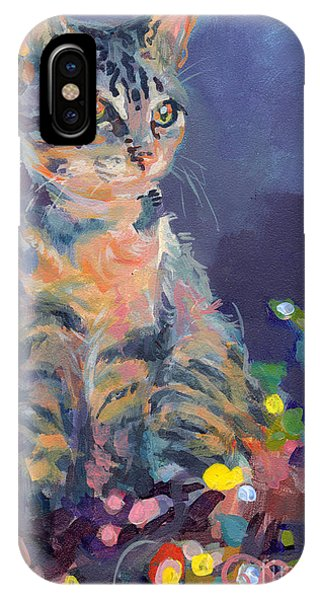 Tabby iPhone Case - Holiday Lights by Kimberly Santini