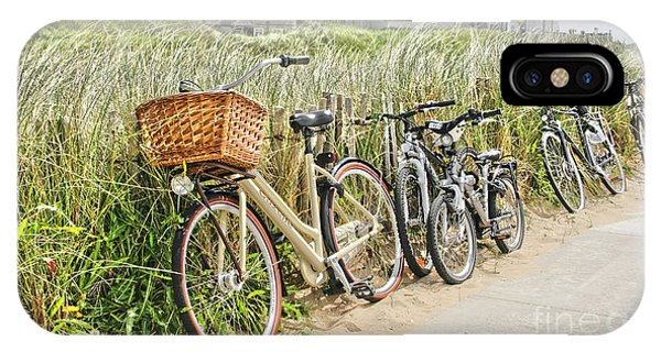 Holland - Bicycles Parked Along The Fence IPhone Case