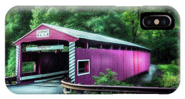 Covered Bridge iPhone Case - Hollingshead Coverd Bridge by Marvin Spates