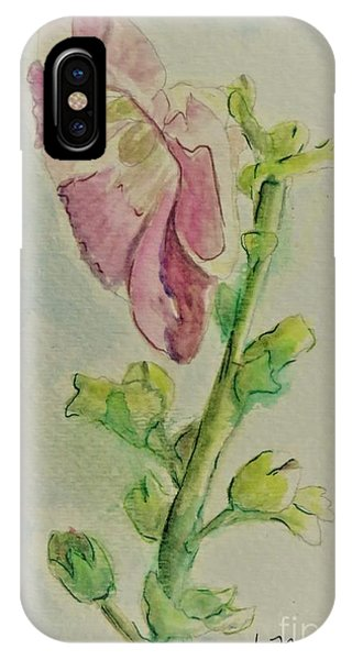 Hollyhock The Harbinger Of Summer IPhone Case