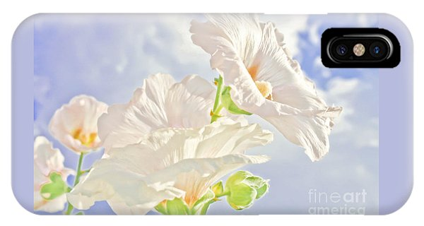 Hollyhocks And Sky IPhone Case
