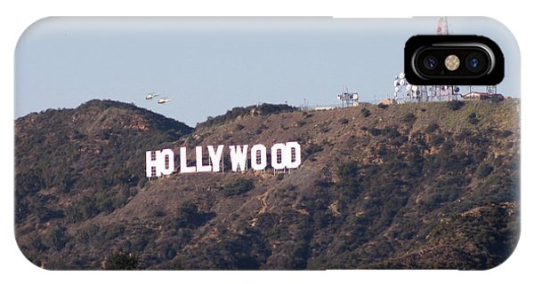 Hollywood And Helicopters IPhone Case