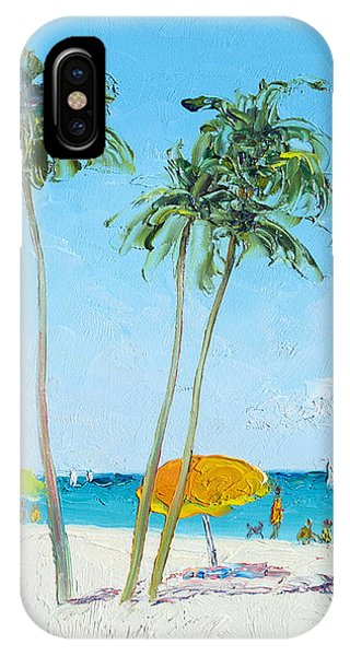Hollywood Beach Florida And Coconut Palms IPhone Case