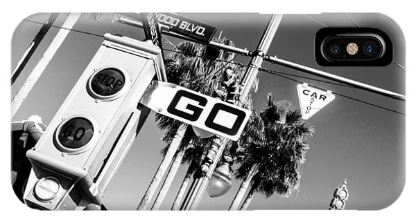Hollywood Blvd Bw IPhone Case
