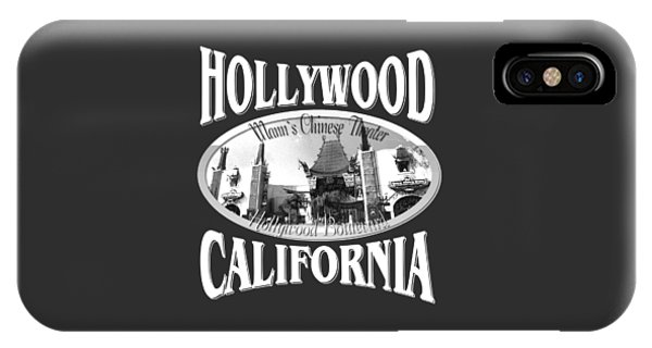 Sports Clothing iPhone Case - Hollywood California Design by Peter Potter