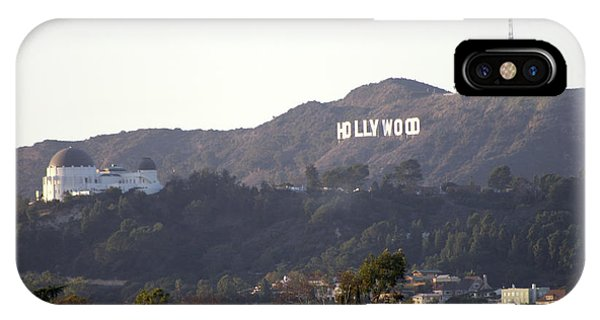 Hollywood Hills And Griffith Observatory IPhone Case