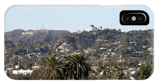 Hollywood Hills From Sunset Blvd IPhone Case