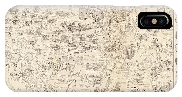 Hollywood Map To The Stars 1937 IPhone Case