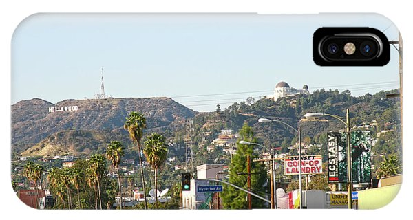 Hollywood Sign Above Sunset Blvd. IPhone Case