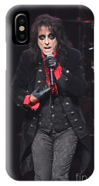 Alice Cooper iPhone Case - Hollywood Vampires Alice Cooper by Concert Photos