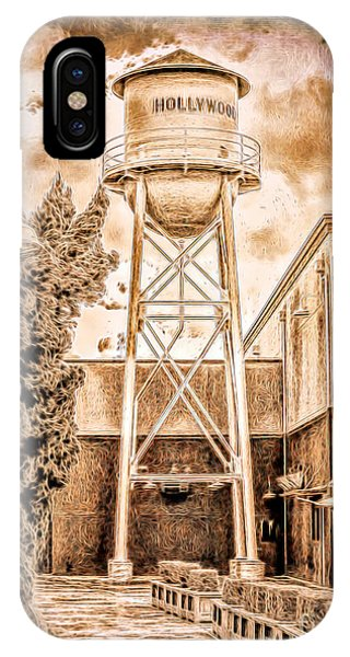 Hollywood Water Tower IPhone Case