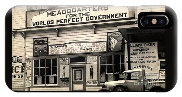 Holy City World Government Santa Clara County California 1938 IPhone Case