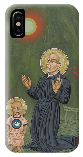 Holy Father Pedro Arrupe, Sj In Hiroshima With The Christ Child 293 IPhone Case