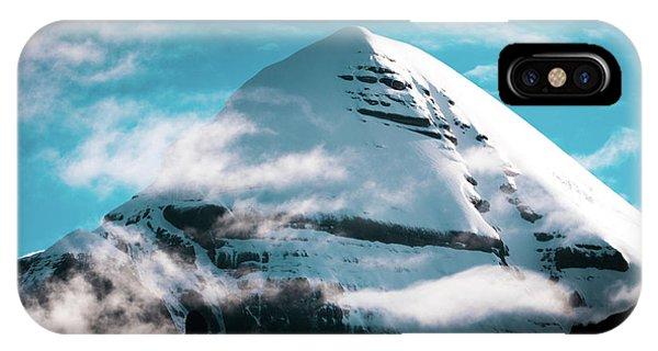 Kora iPhone Case - Holy Kailas Himalayas Mountain Tibet Yantra.lv by Raimond Klavins