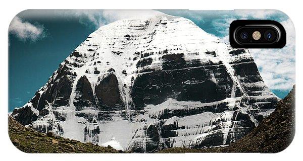 Kora iPhone Case - Holy Kailas North Slop Himalayas Tibet Yantra.lv by Raimond Klavins