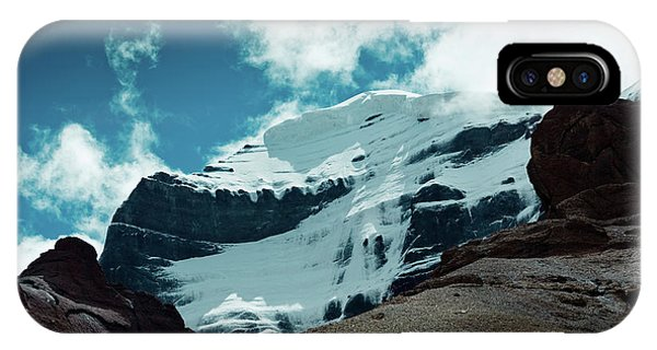 Kora iPhone Case - Holy Kailas West Himalayas Tibet Yantra.lv by Raimond Klavins