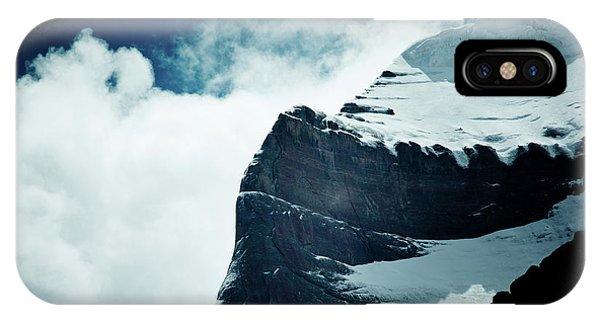 Kora iPhone Case - Holy Kailas West Slop Himalayas Tibet Artmif.lv by Raimond Klavins