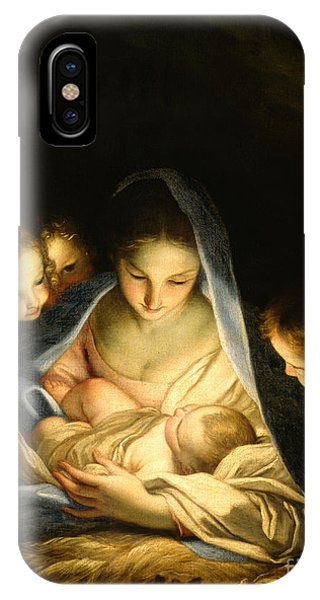 Child iPhone Case - Holy Night by Carlo Maratta