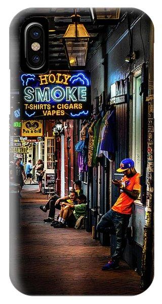 Holy Smoke Bourbon Street IPhone Case
