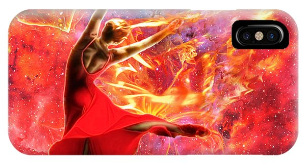 Worship iPhone Case - Holy Spirit Fire by Dolores Develde