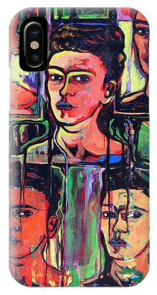 Homage To Frida Kahlo IPhone Case