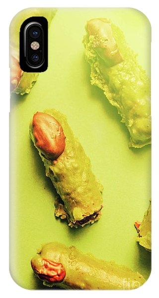 Coat iPhone Case - Home Made Severed Finger Halloween Candies by Jorgo Photography - Wall Art Gallery