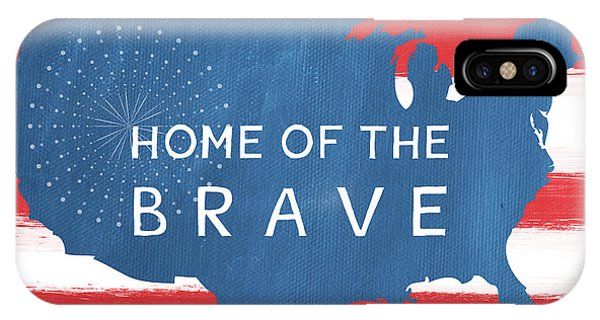 American iPhone Case - Home Of The Brave by Linda Woods
