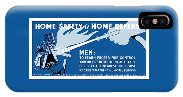 Fire iPhone Case - Home Safety Is Home Defense by War Is Hell Store