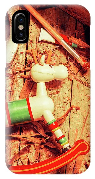 Present iPhone Case - Homemade Christmas Toy by Jorgo Photography - Wall Art Gallery