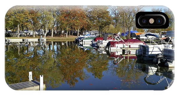 Hometown Marina In Autumn IPhone Case