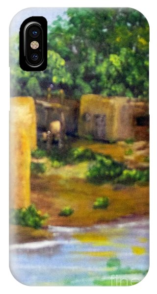 IPhone Case featuring the painting Hometown by Saundra Johnson