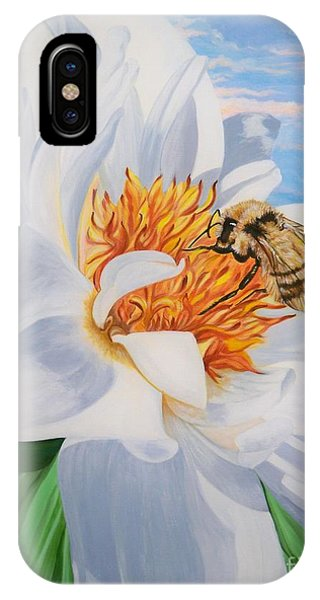 Flygende Lammet Productions     Honey Bee On White Flower IPhone Case
